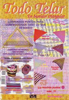 Revistas de Manualidades Para Descargar: Todo Telar en Bastidor Triangular