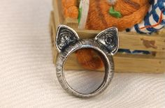 Cute cat ear rings - last two but more available soon.