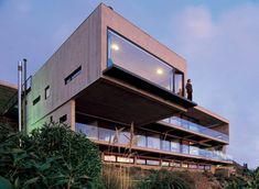 A cliff-top house near Santiago in Chile by architect Mathias Klotz.