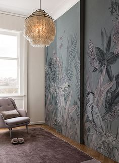 Gorgeous Wallpaper by @wallanddeco |Wallpaper. Colour Trends. Interior Design. |More inspiration at http://brabbu.com/moodboards/?utm_source=pinterest&utm_medium=ambience&utm_content=dmartins&utm_campaign=Pinterest_Inspirations