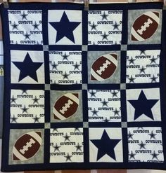 Dallas Cowboys themed baby quilt