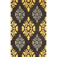 Dalyn Rug Co. Bella Black/Yellow Area Rug Rug Size: Oval 12' x 18'