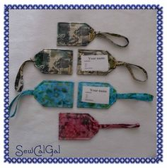My Favorite Tutorials: Luggage Tags, by Kelly Jackson (I Have A Notion)
