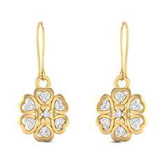 Mabbina Diamond Studded Gold Earrings