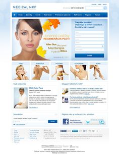 Grafický návrh webstránky pre spoločnosť Medical MKP - laserové centrum a estetická medicína. Web Design, After Sun, Medical, Design Web, Medicine, Med School, Website Designs, Site Design, Active Ingredient