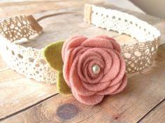 vintage baby headband - flower garland - baby, toddler headband - vintage headband - photo #Headband| http://headbandbrendon.blogspot.com