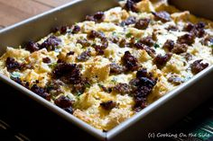 ready to cook, breakfast casserole as New Year's Eve hostess gift...family will surely appreciate it in the morning