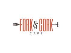 Forkcork / by Brittany Meronek Letterhead Design, Brochure Design, Typography Design, Branding Design, Lettering, Coffee Shop Branding, Gfx Design, Wine Logo, Corporate Id