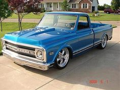 1970 Chevy SWB Fleet Sweet, blue or green? Lowered Trucks, C10 Trucks, Chevrolet Trucks, Chevrolet Silverado, Pickup Trucks, 67 72 Chevy Truck, Classic Chevy Trucks, Classic Chevrolet, Classic Cars