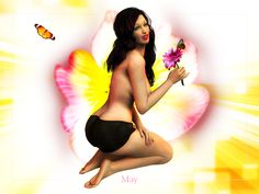 """May Flowers""    Here is my pinup for May! Thanks for looking."