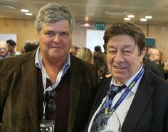 Colman Andrews, The Daily Meal, and Spanish Journalist Luís Cepeda at Madrid Fusión 2014.  Photo by Gerry Dawes©2013 / gerrydawes@aol.com / Facebook / Twitter / Pinterest. Canon 5D Mark III / Canon 24-105mm f/4L IS USM.