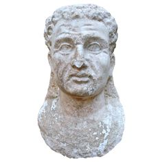 Ancient Roman Marble Bust of a Man Century Marble Bust, Ancient Rome, Antiquities, Roman, Sculptures, Statue, Portrait, Art, Objects