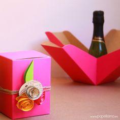 Caja de regalo cartulina boda Wedding gift box-2