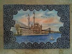 Tile Murals, Tile Art, Tiles, Arts And Crafts, Paper Crafts, Arabic Calligraphy Art, Islamic Art, Istanbul, Watercolor Art