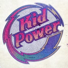 Kid Power Vintage Glitter Iron On Heat Transfer by VintageIronOn on Etsy