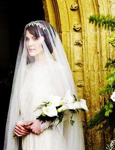 Downton Abby. I love the veil..I kinda wish I had one like that now.