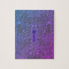 Customizable Dragon Head Puzzle blue gradiant Celtic Spiral, Purple And Black, Blue, Dragon Head, Quality Time, Fantasy, Puzzles, Artwork, Prints