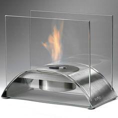 Sunset Tabletop Ethanol Fireplace - Stainless Steel ECO-FEU TT-00114-SS