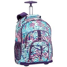 Gear-Up Cool Cheebrah Rolling Backpack #pbteen   My friend has That backpack