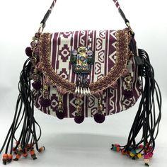 Estilo chinês de design nacional das mulheres bolsa de bordar lantejoulas tassel bolsa de ombro Bohemian handmade étnicas malha designer sacos
