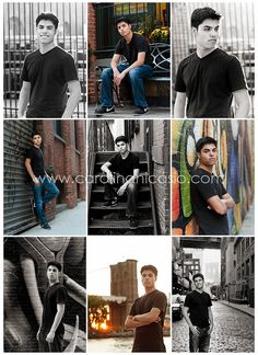 male senior poses . downtown style