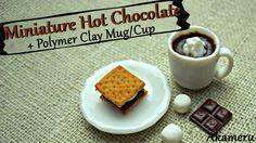 Miniature Hot Chocolate + Mug - Polymer Clay Tutorial