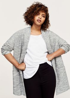 Texture flecked jacket  | VIOLETA BY MANGO