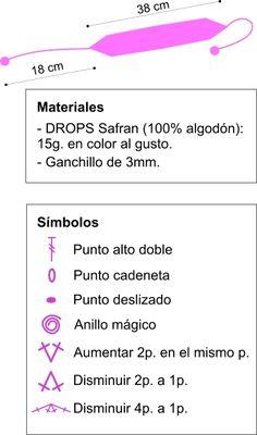 CROCHET10 - Diadema de ganchillo - diagrama 02