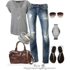 Comfy Casual, created by uniqueimage on Polyvore