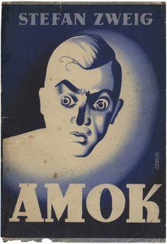 Stefan Zweig, Amok, Livraria Civilização, 1942. Cover by Júlio Amorim.