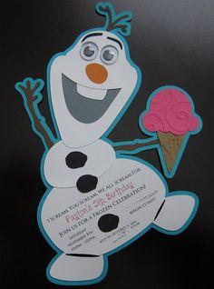Divertida invitación para una fiesta de cumpleaños inspirada en la película de Disney Frozen. #Frozen #invitaciones