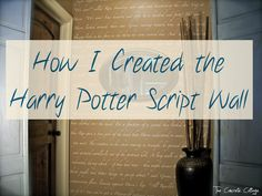 The Concrete Cottage: Answering your HP SCRIPT WALL Questions...How to stencil a wall with book scrip using a Silhouette Cameo to cut the stencil.