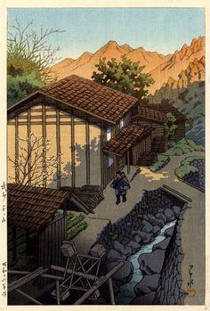 Nenoyama, Bushu  by Kawase Hasui, 1941  (published by Watanabe Shozaburo)