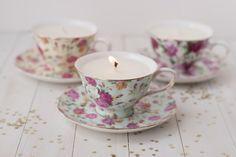 DIY Vintage Teacup Candles