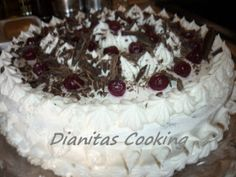 dianitas cooking: Τούρτα Black Forest.Αυθεντική συνταγή!!!Βήμα Βήμα... Greek Beauty, Black Forest, Sweet Recipes, Sweets, Candy, Cookies, Ethnic Recipes, Desserts, Food
