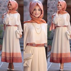 Women want change on every day base in their look to become lovely. Islamic Fashion, Muslim Fashion, Modest Fashion, Fashion Dresses, Hijab Dress Party, Hijab Outfit, Modele Hijab, Eid Outfits, Muslim Dress