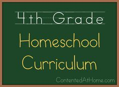 Fourth Grade Homeschool Curriculum {2013-2014} | Contented at Home