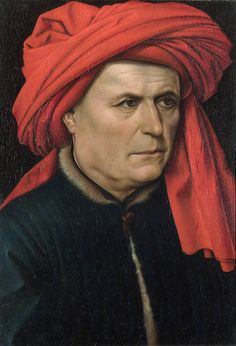 Portret van een man - Portrait of a Man, (a pendant of a woman is also in the National Gallery, London) 1435, by Robert Campin (Master of Flémalle) 1378/9 - 1444