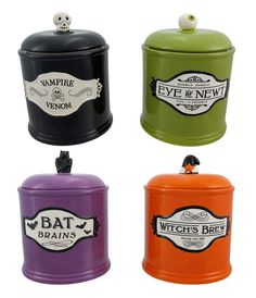 I found 'Set of 4 Halloween Themed Canisters/Cookie Jars' on Wish, check it out!