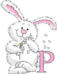 toutlalphabet2 - Page 2296 Easter Art, Hoppy Easter, Easter Crafts, Easter Bunny, Clipart, Bunny Painting, Cute Alphabet, Tole Painting Patterns, Easter Parade