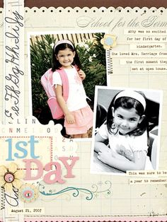 Create a Sweet Back-to-School Scrapbook Page