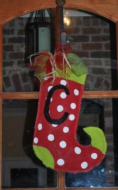 http://www.etsy.com/listing/82706032/burlap-door-hanger