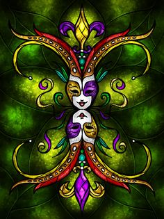 Inspired by the topsy turvy day of Mardi Gras. Mardi Gras Beads, Mardi Gras Party, Mardi Gras Pictures, Madi Gras, Diy Fleur, Drama Masks, Louisiana Art, New Orleans Art, Mask Drawing