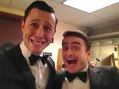 Joseph Gordon-Levitt and Dan Radcliff.  So much awesome in one photo.