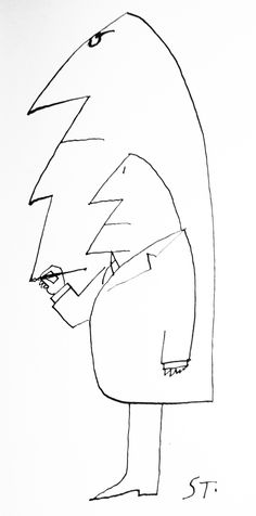 ¤ Saul Steinberg Untitled, 1963. Ink on paper, 20 ½ x 14 3/8 in. Private collection.