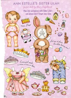 (⑅ ॣ•͈ᴗ•͈ ॣ)♡                                                             ✄Paper Doll Ann Estelle's Sister Lilah, via Etsy
