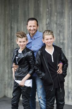 Marcus and Martinus and Dad forever💖💖❤❤ Marcus Y Martinus, Leather Jeans, Leather Jacket, Dream Boyfriend, Young Fashion, Kawaii Girl, Handsome Boys, Cute Boys, Good Music