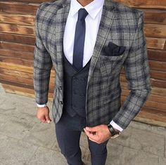 Plaid suit for men – [pin_pinter_full_name] Plaid suit for men suits Plaid Suit, Pinstripe Suit, Blazer Suit, Suit Jacket, Best Suits For Men, Cool Suits, Mens Fashion Suits, Mens Suits, Suit Men