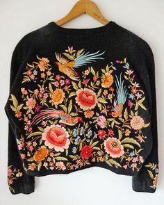 "Ukrainian embroidered ""Freida"" sweater, back view."