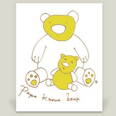 papa bear knows best Art Print by papermouse on BoomBoomPrints